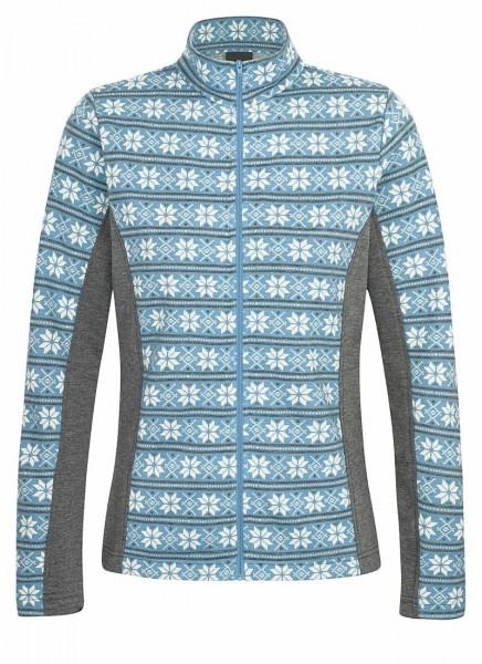 84084 00072 Hot Sportswear CORTINA L Damen Jacquard-Funktionsjacke, Bleu