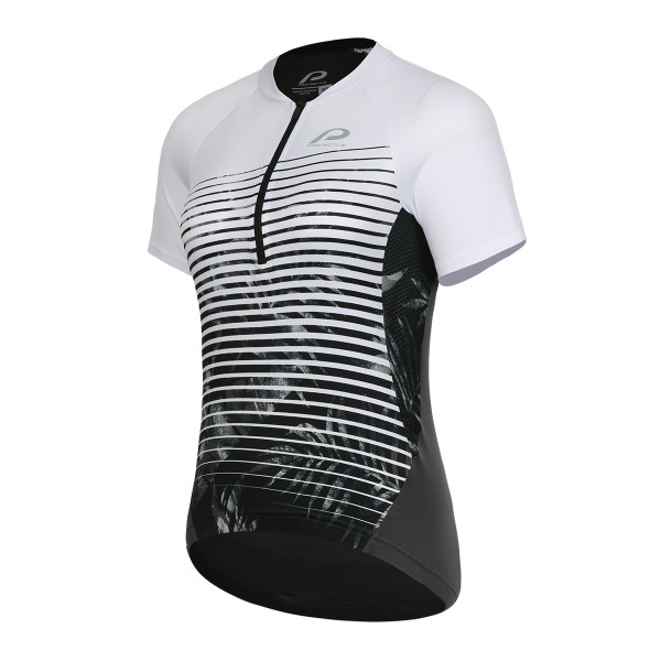 124002-980 Protective P-SUNDAY MORNING Damen Bike/Fahrrad Shortsleeve Jersey, Anthrazit