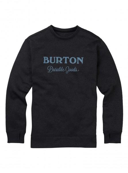 Burton OAK Herren Pullover/Sweatshirt, True Black Heather