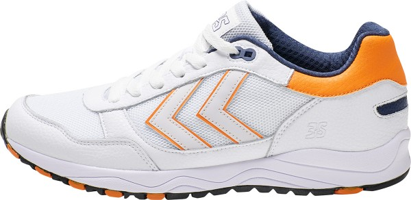hummel 3-S SPORT Herren Sneaker, White/Orange