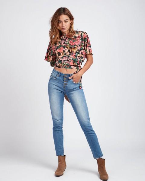 Billabong SHORE LINE HIGH WAISTED VINTAGE DENIM Damen Jeans-Hose, Sail Away