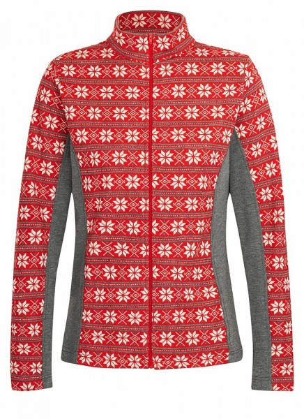 84084 00088 Hot Sportswear CORTINA L Damen Jacquard-Funktionsjacke, Fire
