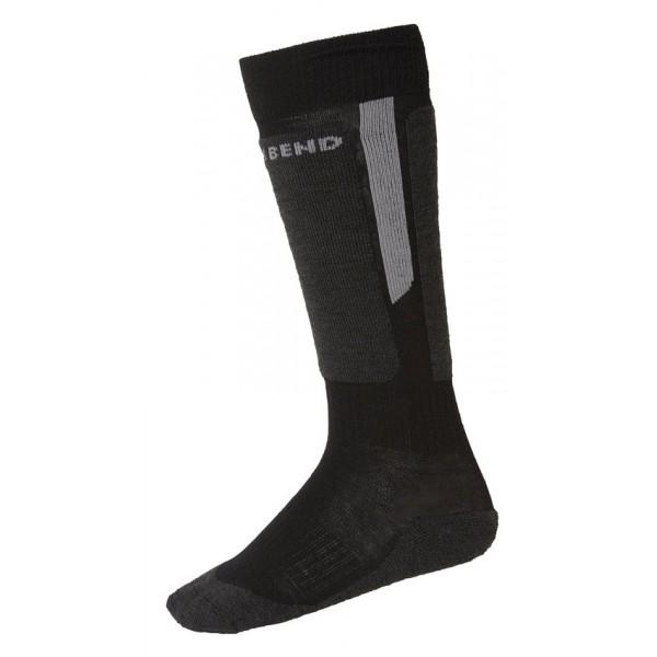 North Bend EXOWOOL Unisex Ski-Socken, Black