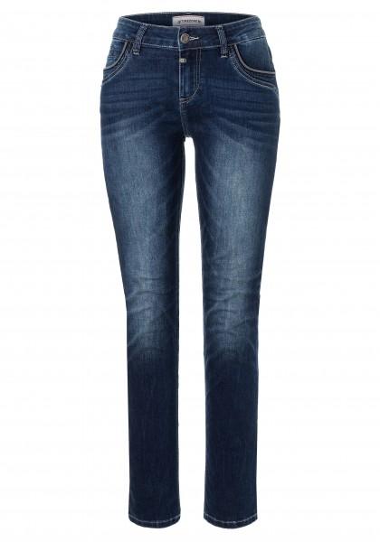 TIMEZONE SLIM TAHILA TZ Damen Jeans, Blue Royal Wash