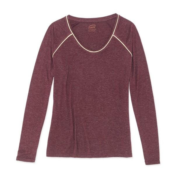 Oxbow TILLY Damen Langarm T-Shirt, Cranberry
