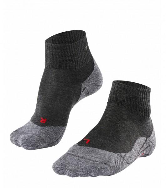 Falke TK5 SHORT Damen Trekking Socken, Asphalt Melange