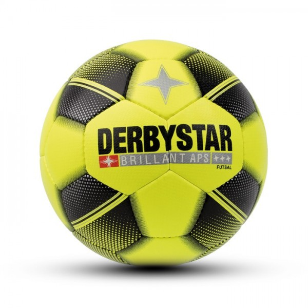 Derbystar BRILLANT APS FUTSAL Fussball, Neon Grün/Schwarz