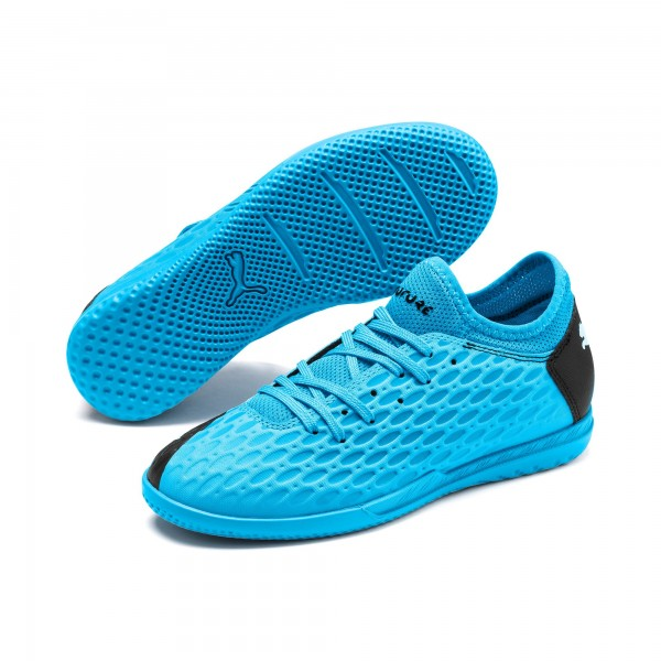 Puma FUTURE 5.4 IT YOUTH Jungen Fußballschuh, Blue-Nrgy Blue-Black