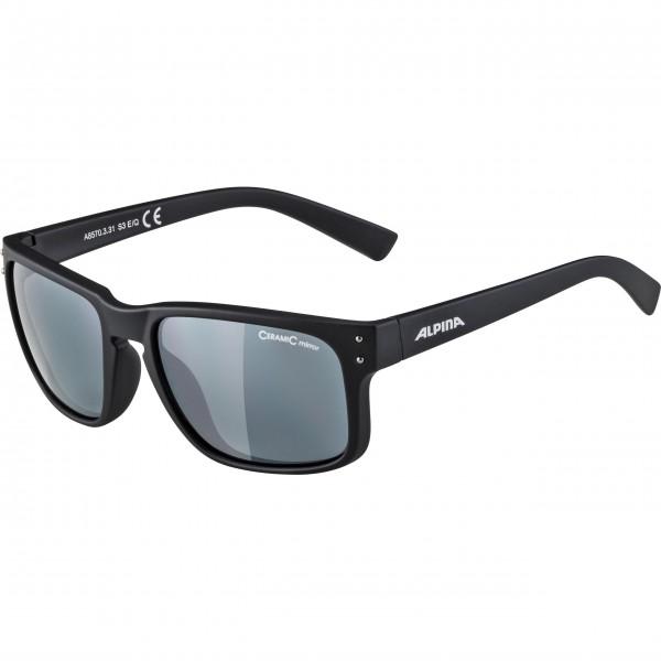 Alpina KOSMIC Unisex Sonnenbrille, Black Matt