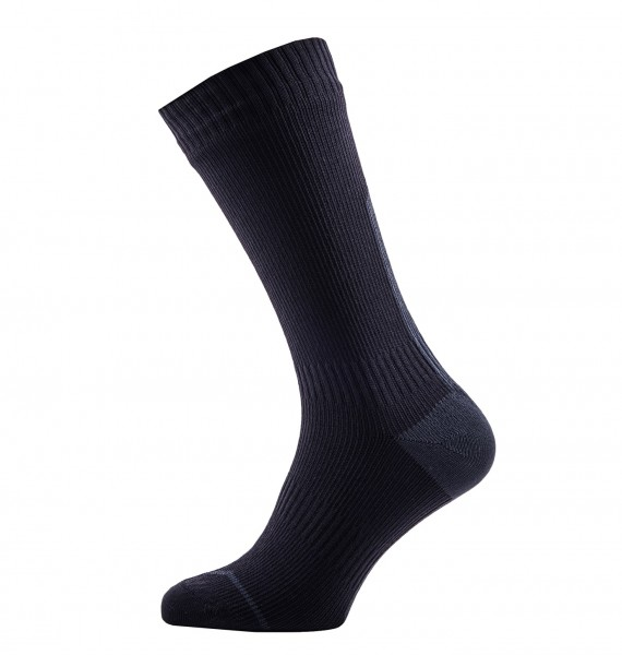 Sealskinz ROAD THIN MID Unisex Rennrad/Fahrrad Socken, Black/Grey