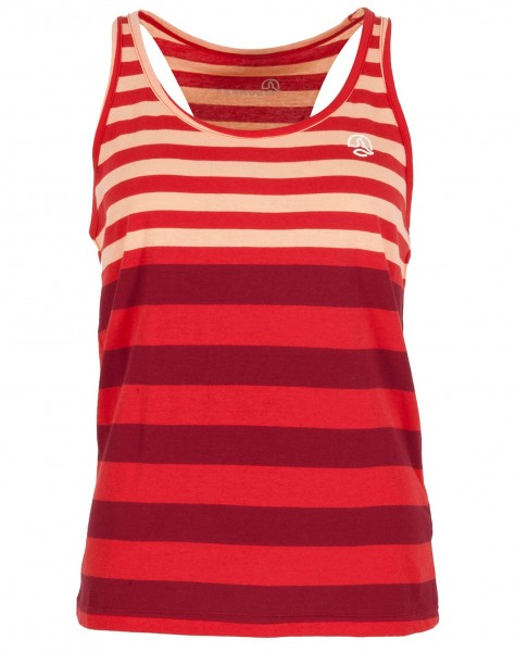 Ternua YUHA SHIRT Damen Tanktop, Ibicus Red Stripes