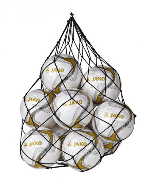 JAKO Ballnetz (für 10 Fußbälle), Schwarz