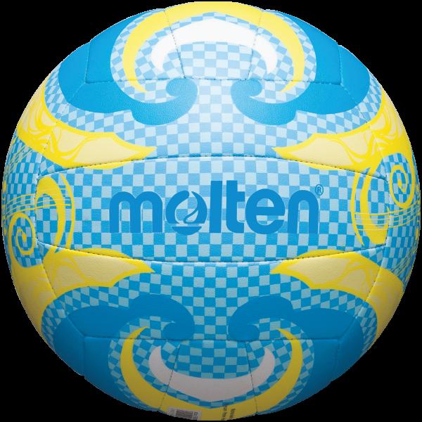 molton V5B1502-C Unisex Beachvolleyball, Blau/Gelb