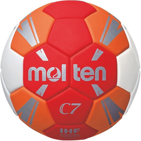 molten H1C3500-RO Handball, Rot/Orange/Weiss/Silber