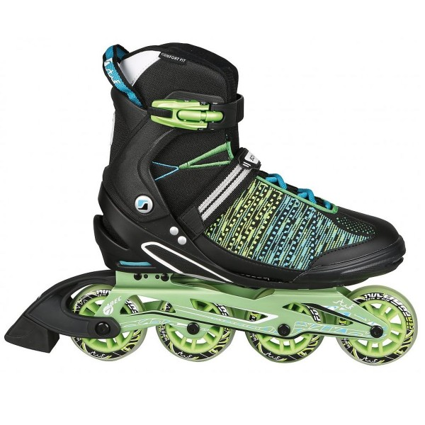 stuf COSMOS KNITTED Unisex Inline-Skates, Black/Blue/Lime