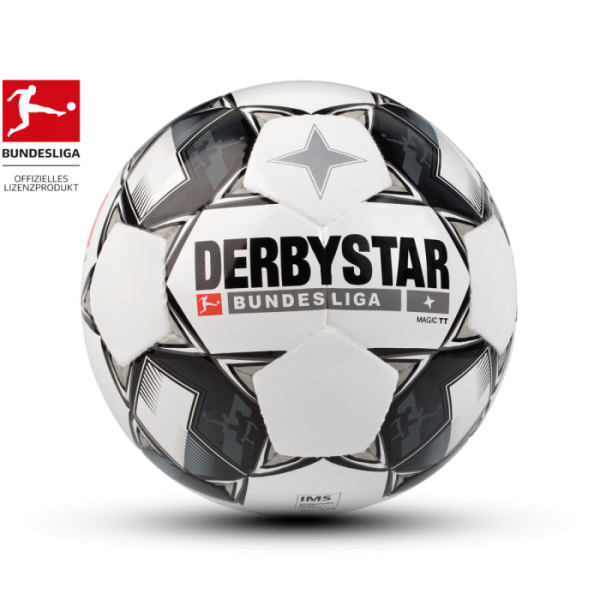 Derbystar BUNDESLIGA MAGIC TT Fussball, Weiss/Schwarz