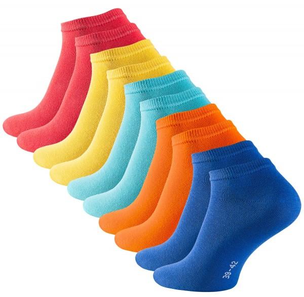 Stark Soul ESSENTIALS Unisex Sneaker-Socken (5 Paar), Fun Colours