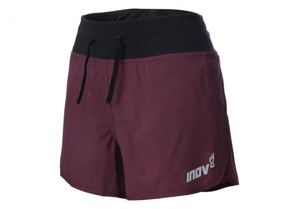 "inov-8 RACE ELITE 4"" SHORT W Damen Running Hose, Black/Purple"
