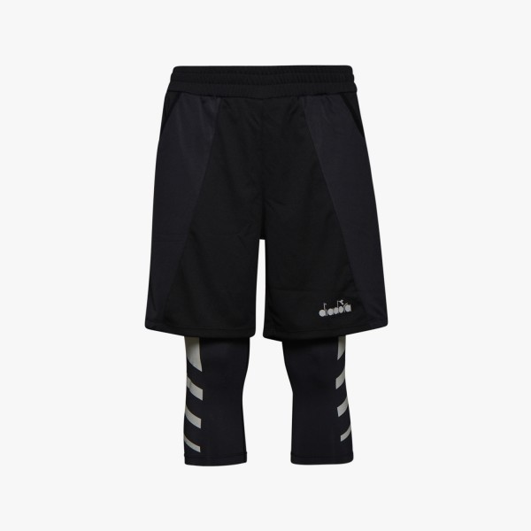 diadora POWER SHORTS BE ONE Herren Lauf-Shorts, Schwarz
