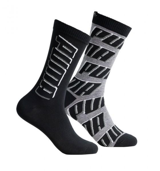 291001001200/200 Puma SOCK ALL OVER LOGO Damen Socken (2er Pack), Black