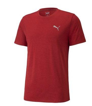 Puma RUN FAVORITE HEATHER Herren T-Shirt, Intense Red Heather