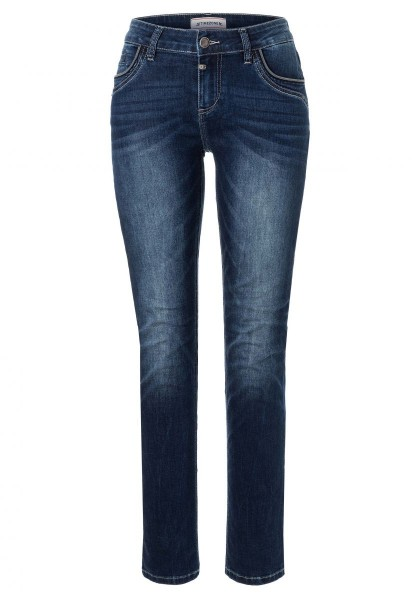 TIMEZONE SLIM TAHILA Damen Jeans (30er Länge), Blue Royal Wash