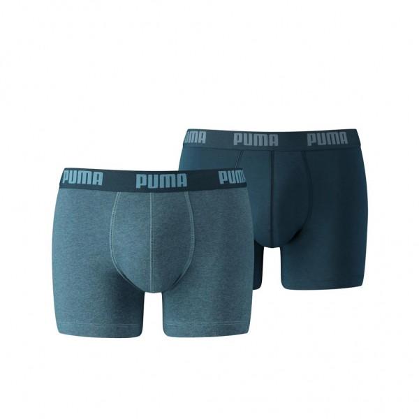 Puma BASIC Herren Boxer-Shorts 2er Pack, Denim