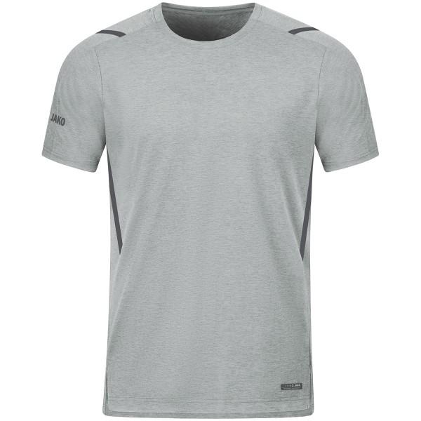 Jako CHALLENGE Kinder T-Shirt, Hellgrau Meliert/Anthra Light