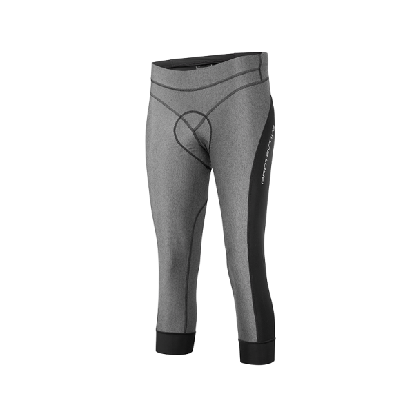 Protective EFFECT 3/4 TIGHT Damen Fahrrad Bundhose, Grey Melange