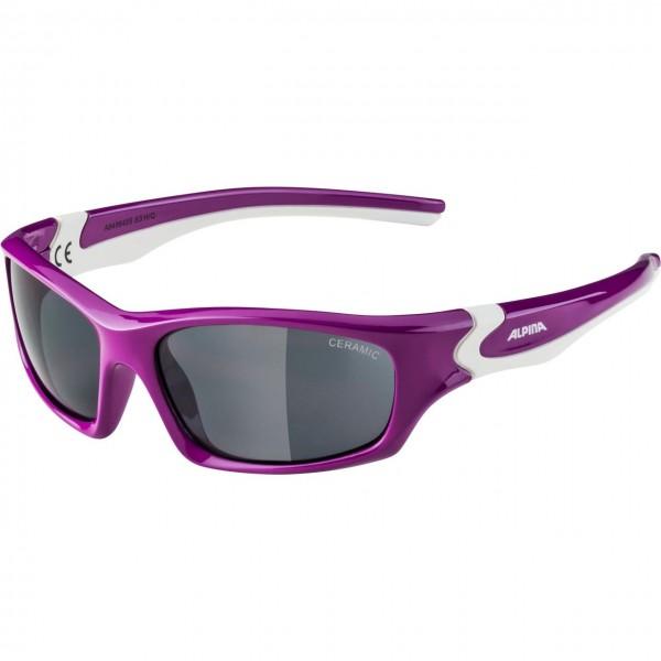 Alpina FLEXXY TEEN Kinder Sportbrille, Berry White