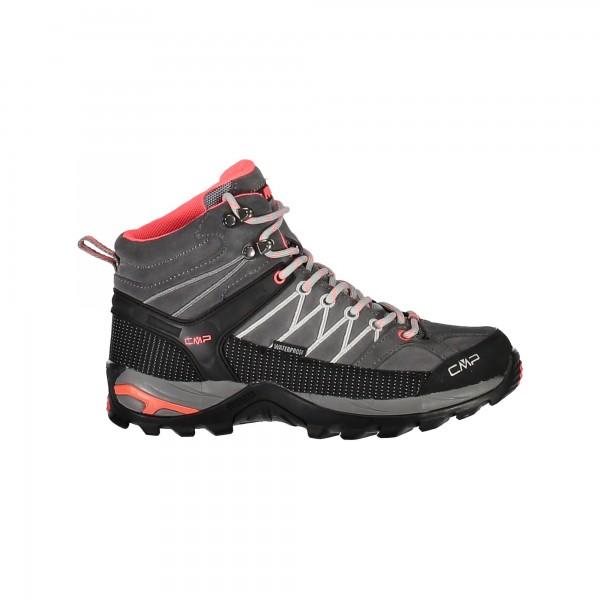 CMP Campagnolo RIGEL MID Damen Trekking Schuh, Grey/Red Fluo