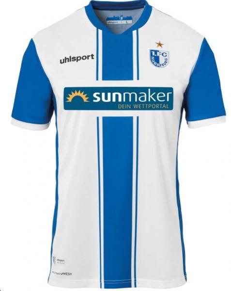 uhlsport FCM Herren Heimtrikot KA 20/21, Blau/Weiß