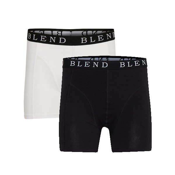 Blend NED Herren 2-Pack Boxer Shorts, Black/White