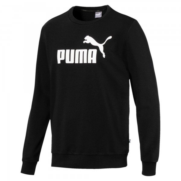 Puma ESSENTIALS LOGO CREW Herren Sweatshirts, Puma Black