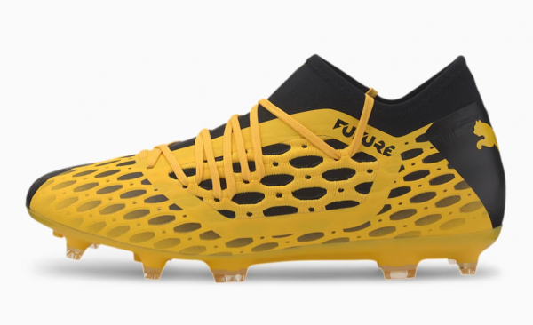 Puma FUTURE 5.3 NETFIT FG/AG Herren Fußballschuhe, Ultra Yellow/Puma Black