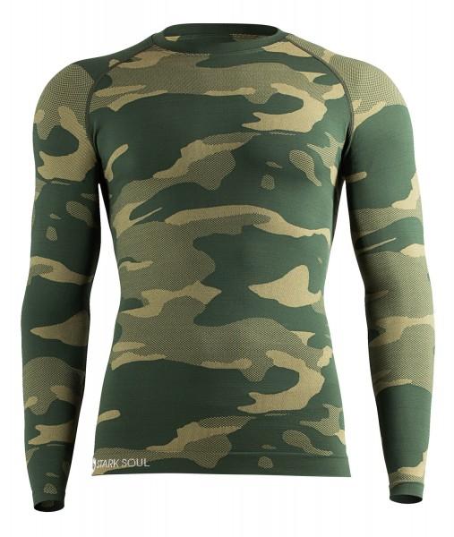 Stark Soul SEAMLESS Herren Thermo-Funktionsunterhemd (Longsleeve), Camouflage