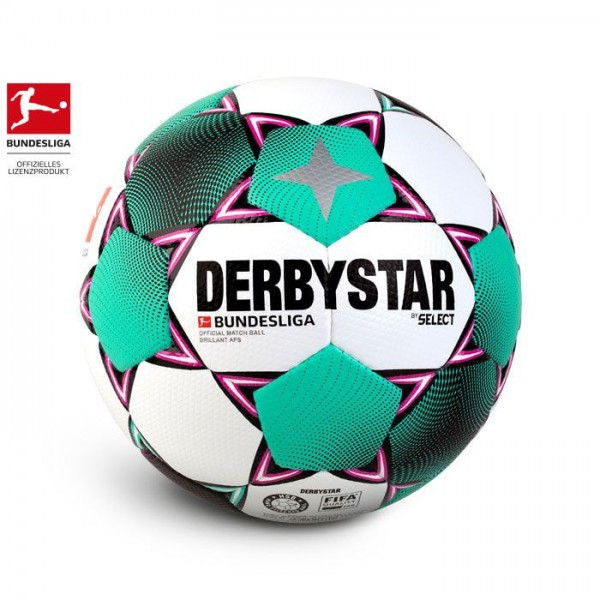 Derbystar BUNDESLIGA BRILLANT APS OFFICIAL Fussball, Weiss/Magenta/Mint