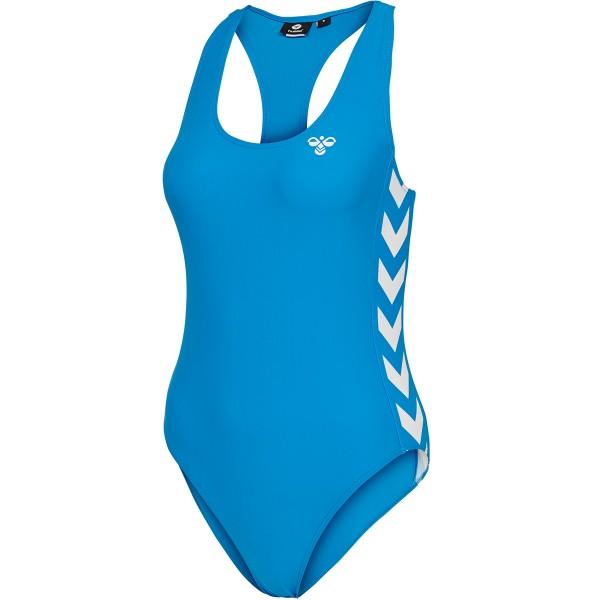 hummel HMLDONNA Damen Badeanzug, Brilliant Blue