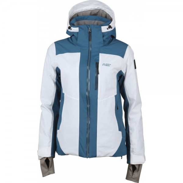 North Bend HIRAFU SKI JACKET Damen Ski-Jacke, Snow White