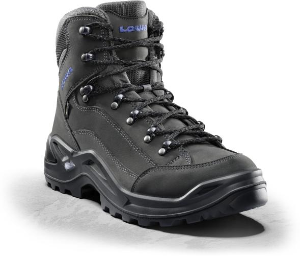 310945 9780 Lowa RENEGADE GTX MID Herren Trekking- & Wanderstiefel, Anthrazit/Stahlblau
