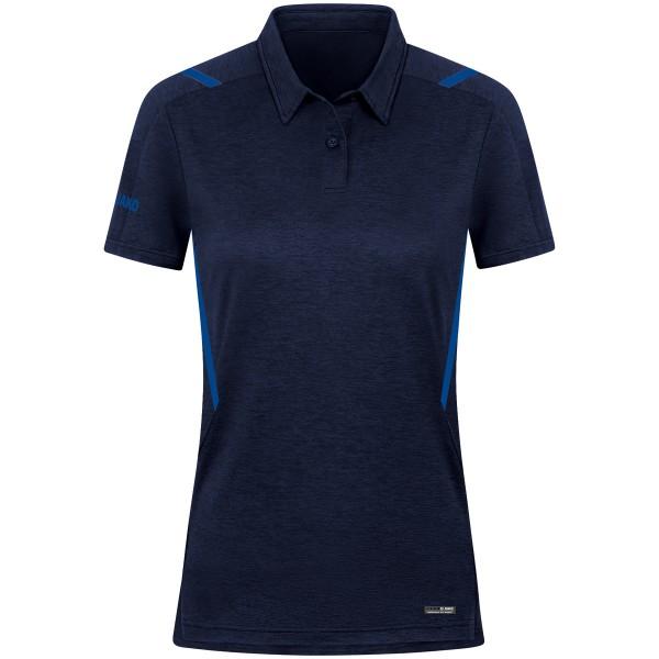 Jako CHALLENGE Damen Poloshirt, Marine Meliert/Royal