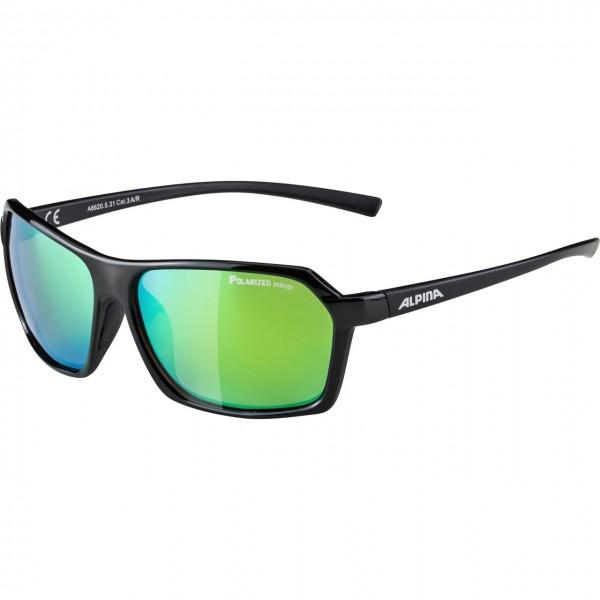 Alpina FINETY P Unisex Sportbrille, Black-Black Matt