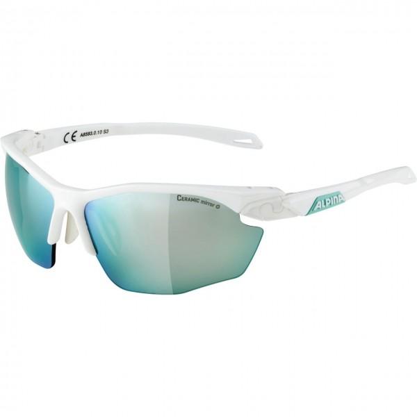 Alpina TWIST FIVE HR CM+ Unisex Sportbrille, White Emerald