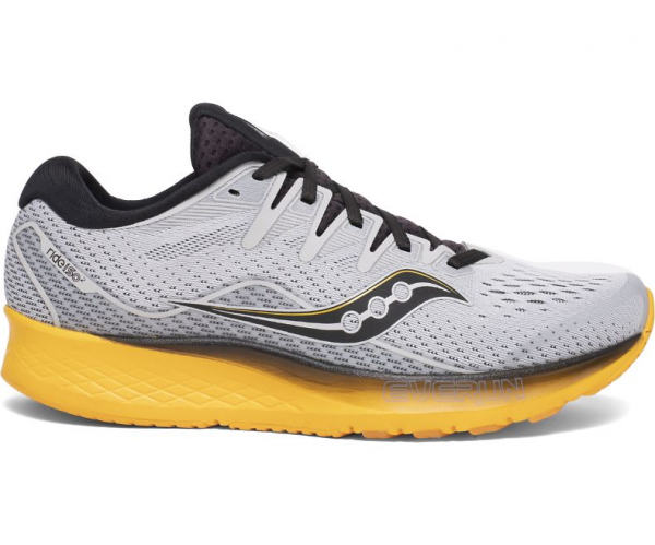 Saucony RIDE ISO 2 Herren Laufschuh, Grey/Yellow