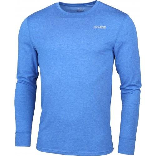 High Colorado BERGEN Herren Langarm Funktions-Unterhemd, Blau Melange
