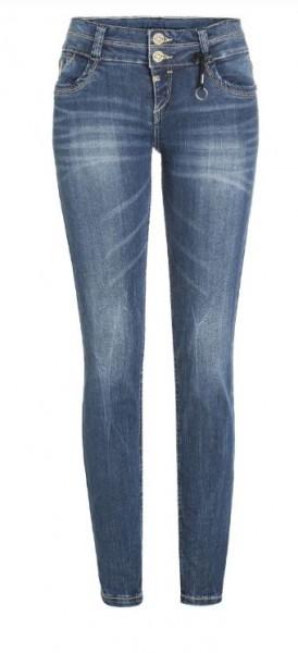 TIMEZONE ENYA Damen Slim Jeans (32er Länge), Blue Royal Wash