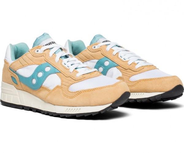 Saucony SHADOW 5000 VINTAGE Herren Lifestyle/Retro-Sneaker, Tan/White/Blue