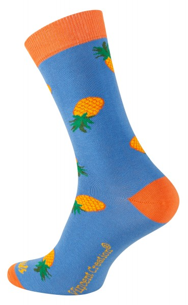 2162 Vincent Creation® FRUITS Unisex Casual Socken, Pineapple