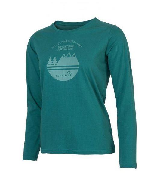 Ternua LITISA Damen Langarm-Shirt, Deep Peacock