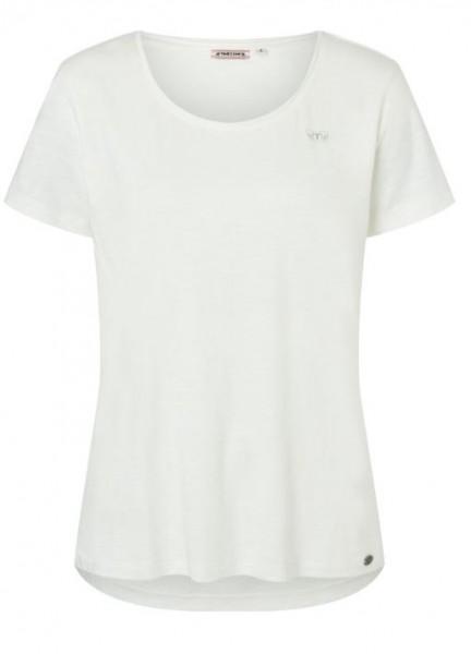 TIMEZONE Damen Basic T-Shirt, Pure White